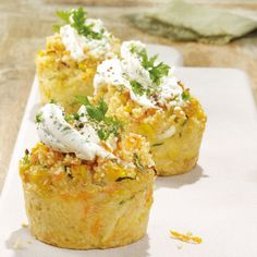 Couscous-Gemüse-Cupcakes Rezepte | Weight Watchers