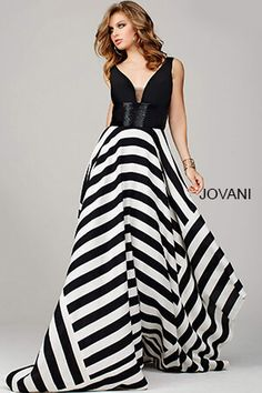 Jovani Prom 33959 Estelle's Dressy Dresses in Farmingdale , NY Stunning sleeveless dress features a striped asymmetrical hem skirt and beaded waistline Prom Dresses Jovani, Gala Dresses, A Line Prom Dresses, Prom Dresses Online, Dressy Dresses, Pageant Dresses, Homecoming Dresses, Nice Dresses, Club Dresses