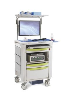 ENDOSCOPIC POWER and then some....with Metro's Flexline Endoscopic Computerized Cart.  Travel from bedside to bedside and floor to floor without concern for power access.  This Endoscopic Cart is paired with an All-In-One Tangent Vita 2000SA computer and a Lithium Nano power supply.