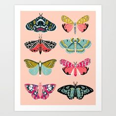 Buy Lepidoptery No. 1 by Andrea Lauren  Art Print by Andrea Lauren Design. Worldwide shipping available at Society6.com. Just one of millions of high quality products available.