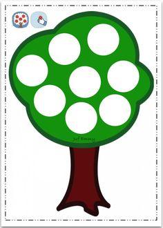 Juf Emmy Boetseerkaart de appelboom: Fall Preschool, Preschool Activities, Logic Math, Friendship Activities, Quiet Book Templates, Do A Dot, Montessori Practical Life, Apple Seeds, Fruit Of The Spirit