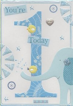 Birthday Cards, Birthday Age Cards, 10th Birthday and Under, 1st Birthday, You're 1 Today,