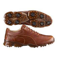 EXCLUSIVE Puma TitanTour Ignite Premium Golf Shoes Brown