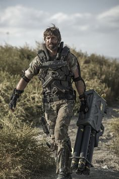 Sharlto Copley as Kruger in Elysium  //it was a difficult few years for Wikus