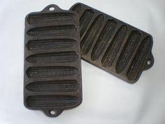 Vintage Pair of Mini Cornbread Loaf Pans by GiddyNowVintage