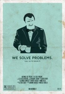 """""""We love to solve problems"""" Mr. #Wolf. Pulp Fiction #Poster by Websonica"""