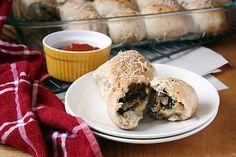 Chevre, Onion & Spinach-Stuffed Rolls