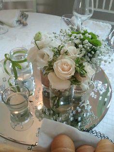 Rose vendela, lisiantus e bottoncino verde
