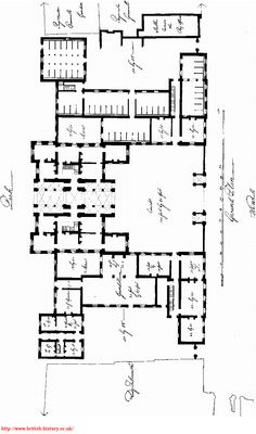 Horse Guards Plan, london (1751) - 'a building of so complicated  a figure, both in plan and elevation, that it is impossible to find a distinct idea of the whole at once.'