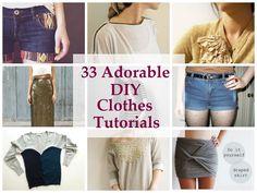 33 Adorable DIY Clothes Tutorials