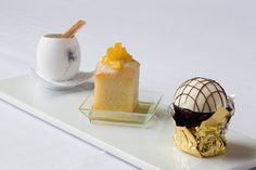 Desserts made by baking and pastry students at the Apple Pie Bakery Café I The Culinary Institute of America