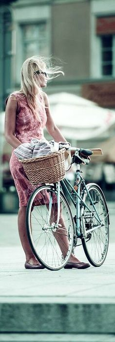 dress, bike, basket -- check!