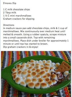 S'mores dip...because i like sweets