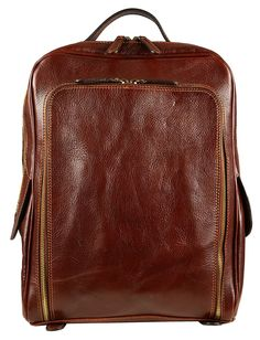 Brown Leather Backpack - Time Resistance ** Check out the image by visiting the link. (This is an Amazon Affiliate link and I receive a commission for the sales)