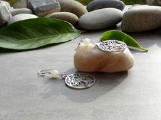 Boucles d'oreilles en aventurine, boucles arbres de vie-bijoux chics et romantiques-boucles d'oreilles argent tibétain et argent plaqué : Boucles d'oreille par lapassiondisabelle