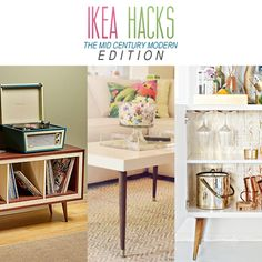 Ikea Hacks The Mid-Century Modern Edition - The Cottage Market Are you a lover of The Mid-Century Modern look.you are going to flip when you see these incredible IKEA Hacks! They come from a page of Don Draper's Book Classic Furniture, Cheap Furniture, Furniture Decor, Metal Furniture, Furniture Dolly, Kitchen Furniture, Furniture Design, Mid Century Modern Decor, Mid Century Modern Furniture