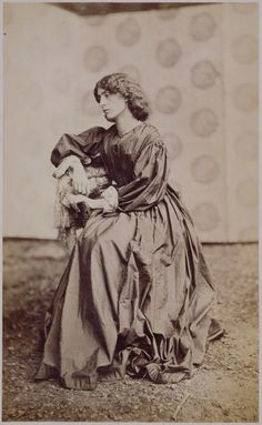 Pre Raphaelite Art: 100th anniversary of the death of Jane Morris, nee Burden, who's elegant and remarkably unique face was forever immortal...