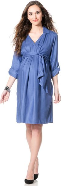 Apeainthepod Isabella Oliver Convertible Sleeve Belted Maternity Dress