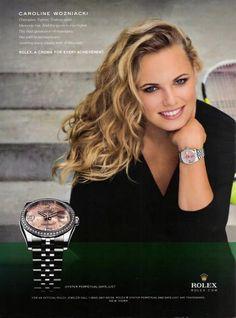 Caroline Wozniacki for Rolex