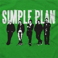 Simple Plan - Band on Green - T-shirts - Official Merch - Powered by MerchDirect
