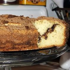 Breakfast And Brunch, Jewish Coffee Cake, A Moist Sour Cream Coffee Cake. This Is A Great Recipe From An Old Friend. Cake Recipes, Dessert Recipes, Desserts, Baking Recipes, Sour Cream Coffee Cake, Jewish Coffee Cake Recipe Sour Cream, Great Recipes, Favorite Recipes, Jewish Recipes
