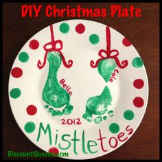 need a fun christmas craft to do with the kids why not make a christmas plate it is so easy all you need 1 plate i got mine from the do