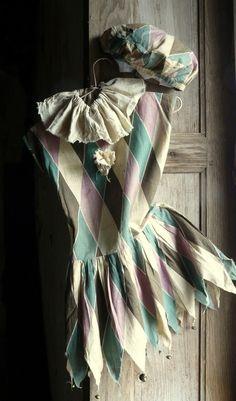 antique harlequin costume