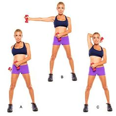 Toss-back triceps - Celebrity Workouts from Tracy Anderson - Health Mobile