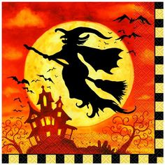 Our Spooky Hollow Luncheon Napkins are a great, functional way to set the table and mood at your Halloween party. The festive colors and creepy scene are sure Halloween Fairy, Halloween Items, Halloween Party Costumes, Halloween House, Vintage Halloween, Fall Halloween, Halloween Witches, Halloween 2019, Halloween Pumpkins