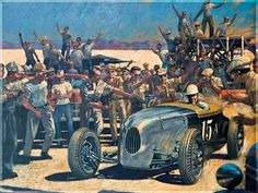 Another work by Barry Rowe. Automotive artist extraordinaire.