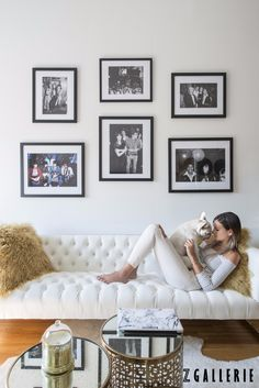 We revamped fashion influencer @weworewhat's NYC loft into a fashionable and functional oasis perfect for work + chic lounging.  See the full makeover and find solutions for your small space on zgallerie.com