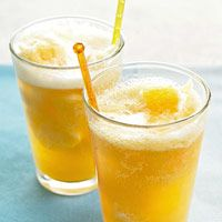 Sparkling Peach Punch  Ingredients        3 - cups water      1 -1/2 cups sugar      1 - 3 ounce package peach-flavored gelatin      1 - 29 ounce can peach slices in light syrup      4 - 11.3 ounce can peach nectar      1/2      cup lemon juice      8 - 10 ounce bottle ginger ale or club soda