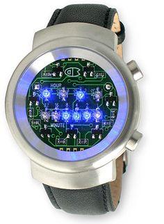 Creative binary LED watch
