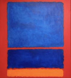 Hand Painted Blue, Orange, Red Abstract Color Field Painting On Canvas Rothko Art, Mark Rothko, Orange Painting, Pictures To Paint, Art Google, Blue Orange, Colorful Interiors, Design Inspiration, Hand Painted