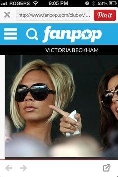 Victoria Beckham Blond Bob