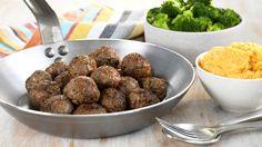 MatPrat - Kjøttboller med brokkoli og søtpotetmos