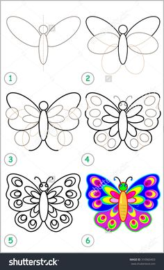 stock-vector-page-shows-how-to-learn-step-by-step-to-draw-a-butterfly-developing-children-skills-for-drawing-310960403.jpg (970×1600)