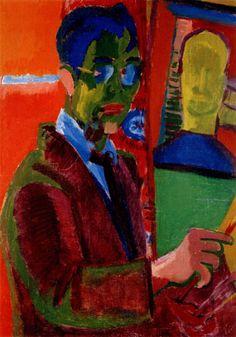 Portret van Johan van Zweden door Jan Altink 1885-1971 (De Ploeg)