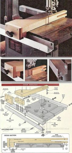 Band Saw Fence System Plans - Band Saw Tips, Jigs and Fixtures   WoodArchivist.com