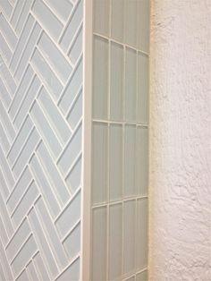 Subway tile in Cloud white modern weave pattern for kitchen backsplash or bathroom tile ideas