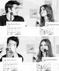 I ship them so hard. Dylan O'Brien & Holland Roden - Teen Wolf cast. <3
