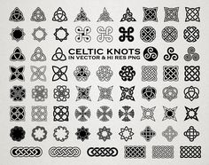 Celtic SVG Cut Files - Celtic Knots SVG Cut Files Celtic svg dxf eps png Celtic Tattoo SVG Cutfiles - Silhouette Cricut Transfer & other by seaquintdesign on Etsy
