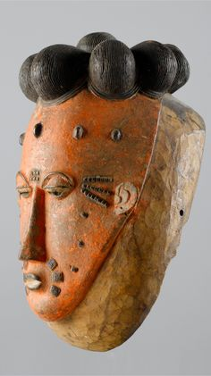 Africa   Mask from the Baule people of the Ivory Coast   Wood and pigment   ca. 1960s/70s