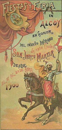 Hugo Peidro. Cartel fiestas de moros y cristianos de 1900
