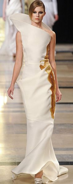 See the entire collection from the Stephane Rolland Spring 2011 Couture runway show. Couture Mode, Couture Fashion, Runway Fashion, High Fashion, Fashion Blogs, Women's Fashion, Stephane Rolland, Georges Chakra, Elie Saab