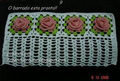 passo a passo barrado flor para lavabo de Elaine Croche e Vânia Dias