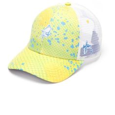 9892bea6a6b Guy Harvey Gold Mahatto Trucker Hat ( 22) ❤ liked on Polyvore featuring  men s fashion