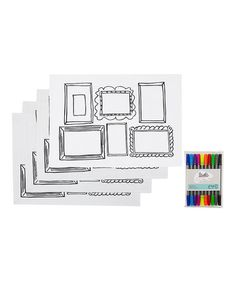 Another great find on #zulily! Picture Frame Doodle Place Mat Set #zulilyfinds