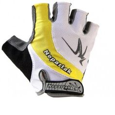 Summer Half Finger Yellow Bicycle Mountain Bike Riding Gloves, S By BSK -- You can find out more details at the link of the image.