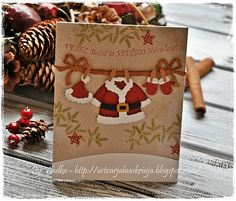 Christmas card with Santa's clothes